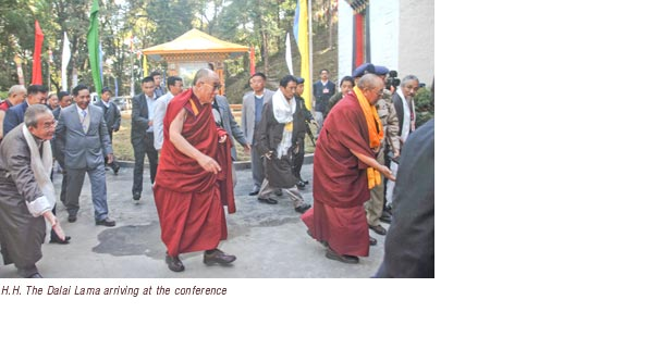 HH Dalai Lama arriving at the conference